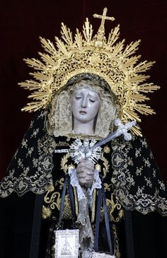 Nuestra Senora de los Dolores (Our Lady of Sorrows) is venerated in several countries from Latin America and Spain. Her feast day is celebrated each September Blessed Mother Mary, Divine Mother, Blessed Virgin Mary, Religious Images, Religious Art, Our Lady Of America, Latin America, Lady Madonna, Our Lady Of Sorrows