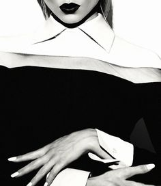 Martha Hunt By Txema Yeste Fashion Photography Art, Martha Hunt, Strike A Pose, Black And White Photography, Monochrome, Female, November 2013, Bullshit, Coco Chanel