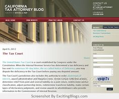 California Tax Attorney Blog :: Published by California Probate Lawyer Mitchell A. Port - Click to visit blog:  http://1.33x.us/ImOPXw