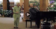She Heard Music In The Nursing Home. Her Reaction is heart melting. #alzheimers #tgen www.mindcrowd.org