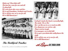 The Rockford Peaches sing the All Americans victory song ~ A League of Their Own (1992) ~ Movie Quotes ~ #moviequotes #leagueoftheirown #90smovies