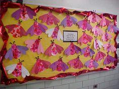 Tissue Collage Heart Butterflies, gr. K