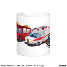 Police, Ambulance and Fire Service vehicles. Classic White Coffee Mug