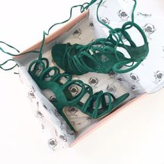 Emerald Lace Up Heel $49