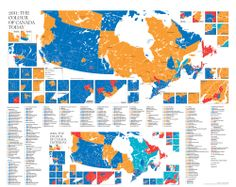 Political map of Canada (2011)