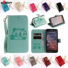 eFFelon Panda Stand Flip PU Leather Cover Case For Asus Zenfone 2 ZE550ML Mobile Phone Cases For Zenfone 2 Laser ZE500KL ZE551KL