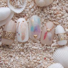 Pin on ネイル Love Nails, Pretty Nails, Gypsy Nails, Japan Nail Art, Dream Catcher Nails, Asian Nails, Kawaii Nails, Manicure Y Pedicure, Gel Nail Art