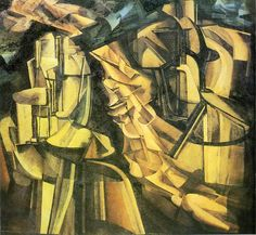 Artist: Marcel Duchamp Movement: Cubism Name: King and Queen Surrounded by Swift Nudes, 1912 Location: Philadelphia Museum of Art Cubism Art, Plastic Art, Philadelphia Museum Of Art, Portraits, Post Impressionism, Henri Matisse, Conceptual Art, American Artists, Les Oeuvres