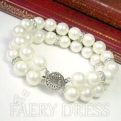 FAERYDRESS.com SUPPLIES Glamorous Double Layers Pearl Bracelet