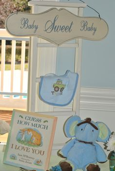 Baby Boy Shower- Table Decor