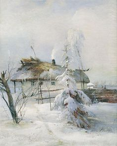 "Winter by Alexey Savrasov, 1873 // А. Саврасов, ""Зима"" #ulyanasergeenko#inspiration#art#winter#ульянасергеенко"