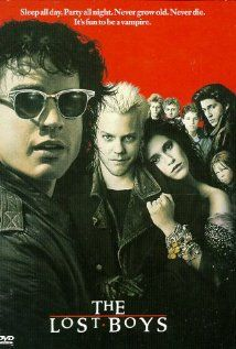 The Lost Boys is a classic comedy horror movie about vampires who have taken over a small town. The movie stars Jason Patric, Corey Haim, Corey Feldman Lost Boys Soundtrack, Lost Boys Movie, The Lost Boys 1987, Love Movie, Film Movie, 80s Movies, Scary Movies, Childhood Movies, Cult Movies