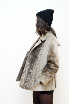 Vintage Authentic Seal Fur Coat / 1960s Black Seal by ThePenduline