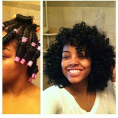 Twist and curl with perm rods. Perfect curl!