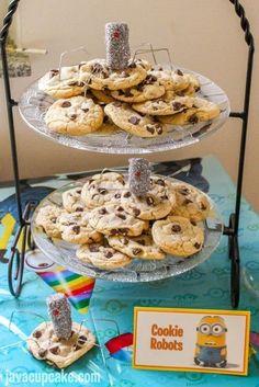 Minion Birthday Party - Cookie Robots | JavaCupcake.com