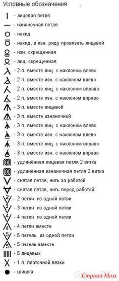 Начинающие мастерицы, взяв в первый раз схему, увидят много непонятных для себя условных обозначений и символов.