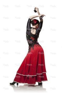 young woman dancing flamenco with castanets isolated on white stock photo 35516720 - iStock