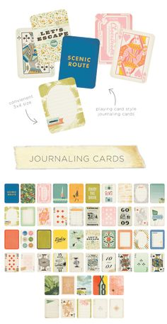 Look at these cute journaling cards from Crate Paper's Open Road collection! Can't you just see them as tags or mini photo mats in a mini album? Check out the pretty vintage paper and ephemera at #Crate Paper Open Road