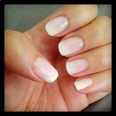 Ombre french manicure. Essie rock candy and urban outfitters virgin. DIY video here.Visit my Pinterest for more nail inspirations!