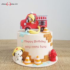Write name on Fondant Cake Designs for Birthday Boy with Name And Wishes Images and create free Online And Wishes Images with name online.