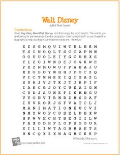 Free Printable Word Search Worksheet for Grandma Moses Art Sub Plans, Art Lesson Plans, Alexander Calder, Art History Lessons, Art Lessons, Writing Lessons, Spanish Lessons, History Major, Art Worksheets