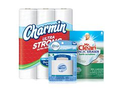 With this e-coupon, get $5.00 when you spend twenty on any Charmin®, Mr. Clean® and Febreze® products.