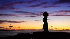 Moai near Hanga Roa, Rapa Nui, Chile. Easter Island, Chernobyl, Chile, Remote, United States, Sunset, Landscape, World, Photography