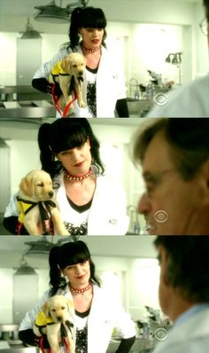 Mortimer, the seeing eye pup that Abby trains on NCIS