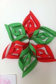Christmas Paper Snowflake!