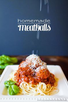 Homemade meatballs recipe, so yummy!