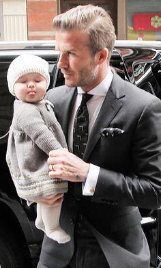 David Beckham + baby YES