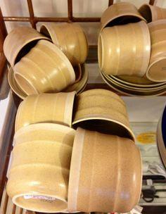 Mikasa Home spun sea sand tea cups and saucers - $60 for the set