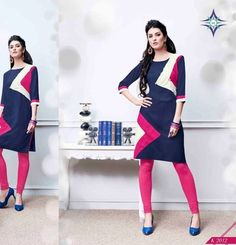 Blue embroidered cotton party-wear-kurtis    Blue Kurtis, blue color kurtis, royal blue colour kurtis, blue Kurtis online, blue kurti Party Wear Kurtis, Blue Fabric, Latest Fashion, Shops, Clothes For Women, Awesome, How To Wear, Cotton, Etsy