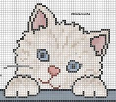 15 Ideas crochet baby blanket animals cross stitch for 2020 Cat Cross Stitches, Cross Stitch Baby, Cross Stitch Animals, Cross Stitch Charts, Cross Stitching, Cross Stitch Embroidery, Cross Stitch Patterns, Hand Embroidery, Embroidery Patterns