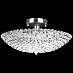 3-light Chrome Finish Crystal Bowl Shaped Flush Mount Chandelier Ceiling Fixture EDVIVI http://www.amazon.com/dp/B0163TMD2E/ref=cm_sw_r_pi_dp_lTqaxb0Q2G91S