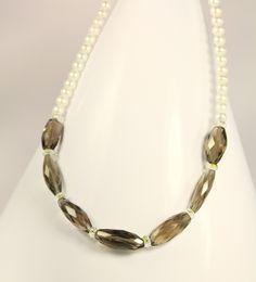 beautiful pearl and quartz...by Amethy