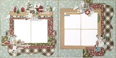 Simple Stories Winter Farmhouse Collection Two Page Scrapbook Layout - Paisleys and Polka Dots Scrapbook Printables, Scrapbook Templates, Scrapbook Designs, Scrapbook Sketches, Scrapbook Page Layouts, Scrapbook Supplies, Scrapbook Pages, Scrapbooking Ideas, Digital Scrapbooking
