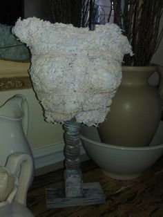 $35.00 Table Top Bust  Made From shredded paper