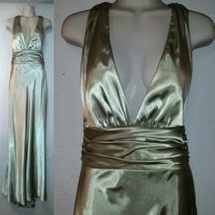 Vintage 80s Cache Bombshell Evening Gown. by RaggzAndRelics