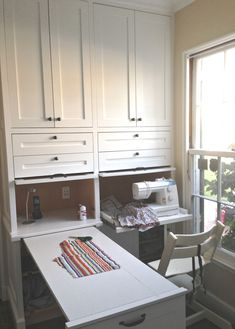 Top 9 One-Room Wonders in Our Small Space, Big Dreams Home Awards | These entries epitomized how to live big when you're short on space Sewing Room Design, Sewing Room Storage, Craft Room Storage, Room Organization, Small Sewing Space, Sewing Spaces, Small Rooms, Small Spaces, Small Condo Decorating