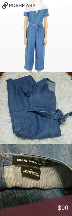 Club monaco denim jumpsuit size 0 New without tags  size 0 Club Monaco Pants Jumpsuits & Rompers