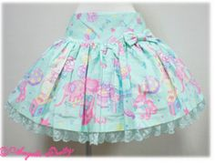 PLEASE email me at banananyo@yahoo.com before buying so I can calculate shipping if you live outside of the United States!!  Bought new at an Angelic Pretty store in Japan last year, worn 3-4 times. Skirt itself is in perfect condition other than two small stains that I have located in the pict...