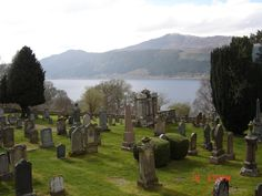 Peaceful cemetery on loch Ness.