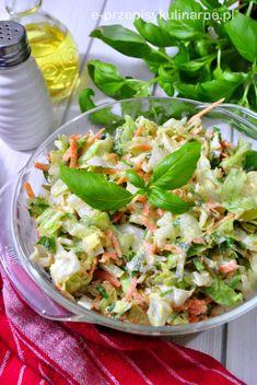 Surówka kopenhaska Tortellini, Kraut, Summer Salads, Lettuce, Cabbage, Grilling, Food And Drink, Vegetables, Recipes