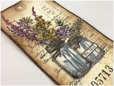 Hello and welcome, Zoe here hosting this weeks Saturday Showcase. This week I am showcasing the Tim Holtz flower jar stamps and framelits d...