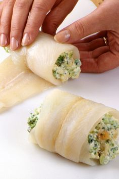 The rich, savory cream cheese filling in this broccoli-stuffed sole recipe is the heavenly part of this fish dinner.