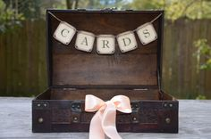 Wedding Suitcase Peach Pink Wedding Rustic by SgtPeppersHeartsClub, $57.00