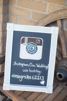 This is such a cool idea!! Your guests can take pictures of the wedding and you can look at all of them through the hastag ...