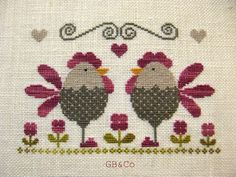 Love Story dans mon poulailler Chicken Cross Stitch, Mini Cross Stitch, Hand Embroidery Patterns, Embroidery Designs, Knitting Patterns, Cross Stitching, Cross Stitch Embroidery, Cross Stitch Patterns, Bargello