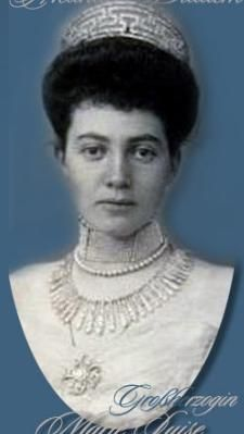 (Lost) Meander Tiara and Fringe Necklace / Tiara of Grand Duchess Marie Louise of Baden, nee Princess of Hanover.